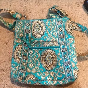 Very Bradley Crossbody Totally Turq Teal Bag